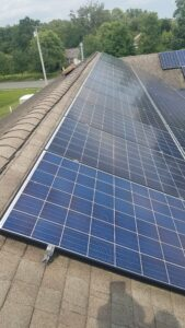 Solar Panels Cleaned by New Jersey Window Cleaning